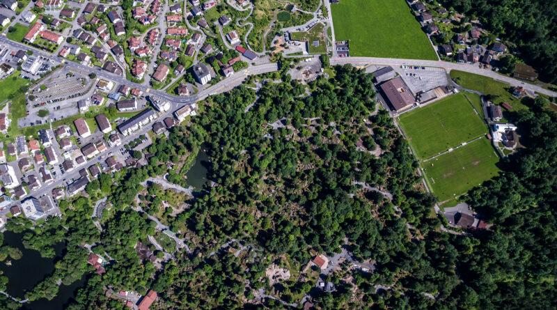 Park von Oben